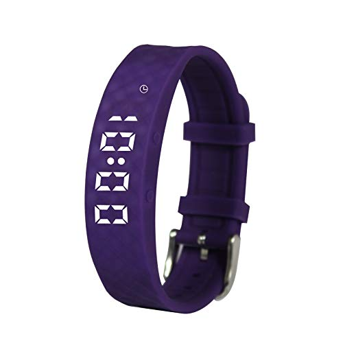 Purple Pivotell Vibratime Vibrating Reminder Watch - with up to 10 Daily...