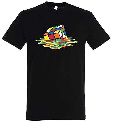 Camiseta Sheldon Cubo Rubik Big Rubik Cube BBT Bang Theory Negro XXL