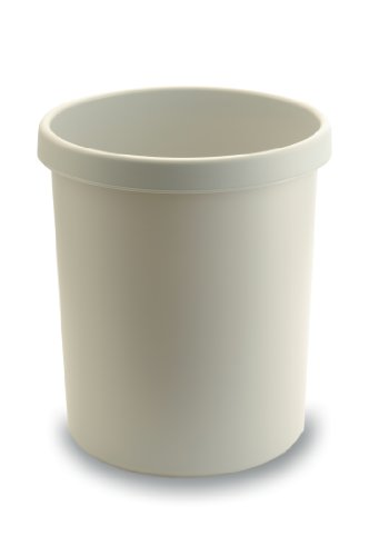 KAYSER Corbeille à papier en plastique, rond, 45 litres, gris