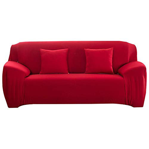 HXTSWGS Housse de Fauteuil Imprimée,Elastic Sofa Cover, All-Inclusive Sofa Covers for, Living Room Couch Cover Chair Cases,Furniture Protective Cover-Red_90-140cm