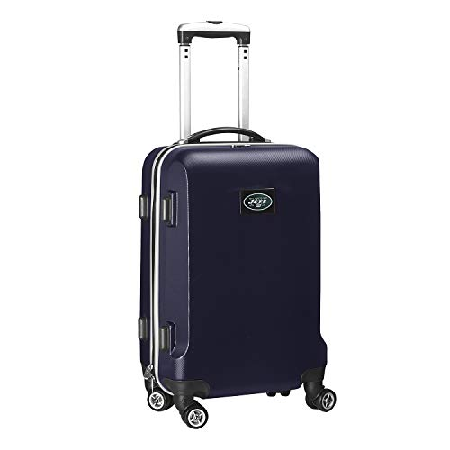 NFL New York Jets Mojo Hardcase Spinner Carry On Suitcase  - Navy