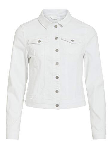 Vila Female Jeansjacke Taschen MSnow White