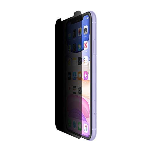 Película de privacidade de vidro temperado Belkin Screenforce para iPhone 11, iPhone XR, número do modelo: OVA006zz