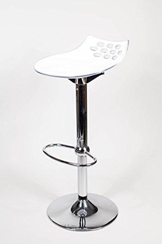 Calligaris Jam 1476 - Sgabello da bar regolabile in altezza, colore: Bianco/Giallo senape lucido