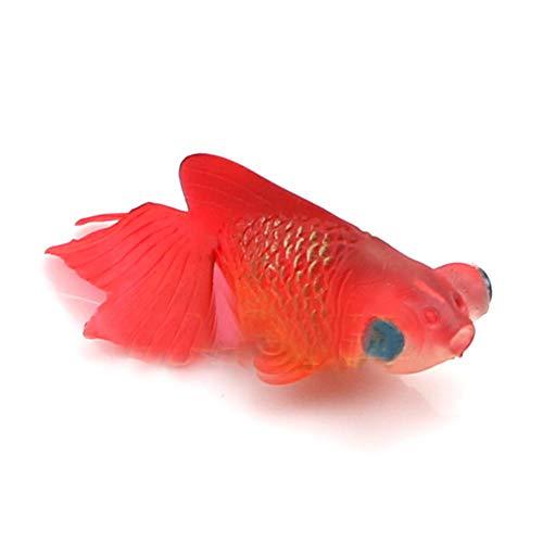 Xiton Aquarium Kunststoff Schwimmen Gold Fisch Dekoration (5 Rot) 1 PC