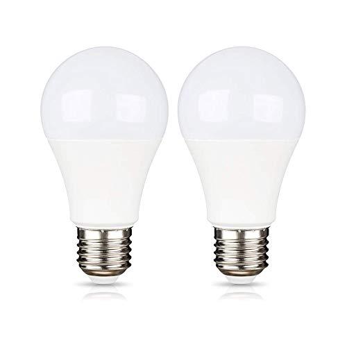 E27 12V LED 9W (A60 75W Halogenlampe), Kaltweiß 6000K, 270 Grad, AC/DC 12-36V Campinglampen, Fassung-E27, LED Lampe 12V 24 Volt für Wohnmobil/Gartenleuchte/Schiff, Nicht Dimmbar, 2er-Set