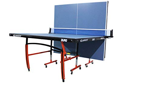 Gymnco Duro Table Tennis Table with Levellers Top 18 mm (TT Table Cover + 2 TT Racket & Balls