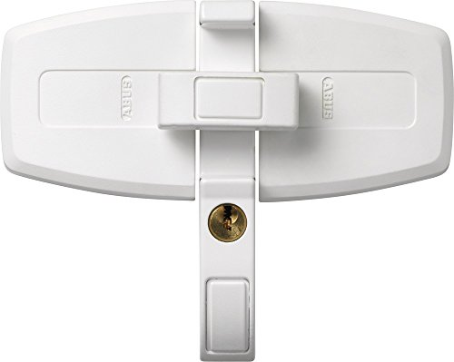 ABUS Fenster-Zusatzsicherung DFS95 AL0145 - Sicherung für Doppelflügelfenster, gleichschließend - ABUS-Sicherheitslevel 10 - 31721 - Weiß