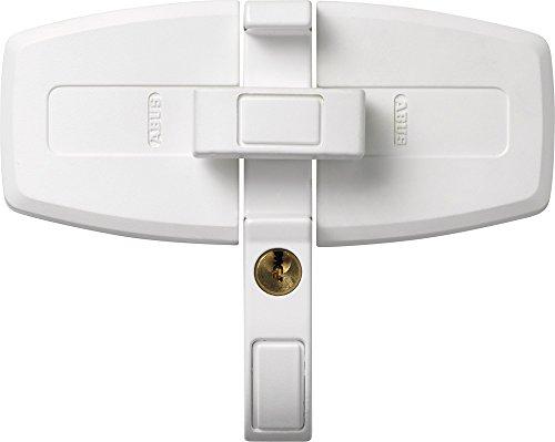 ABUS Fenster-Zusatzschloss DFS95 für Doppelflügelfenster gleichschließend, weiß, 31721