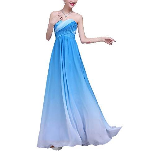 Plissee Brautkleid Langes Kleid Kleider Für Frauen Abend Party Kleid,Blue-2