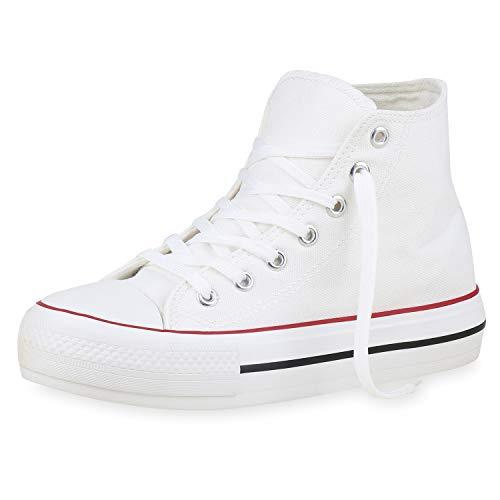 SCARPE VITA Dames Sneaker High Basic Canvas Turnschoenen Veters Doek Schoenen Comfortabel Vrijetijdsschoenen