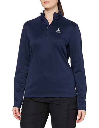 Odlo Midlayer 1/2 Zip PILLON Pull Femme, Diving Navy, FR : S (Taille Fabricant : S)