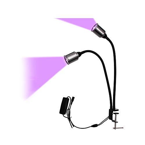 WWZL Luz de Crecimiento Vegetal, Luz de Crecimiento LED de 15W, Luz de Relleno de Atenuación de Tiempo de Ciclo de 12V Espectro Completo para Flores Vegetales De Invernadero