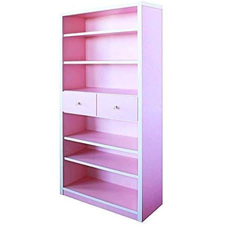 75 書棚 パレット 1-14 (P) ピンク 書棚 本棚 タンス 幅75cm 日本製 完成品 カラー (ピンク)