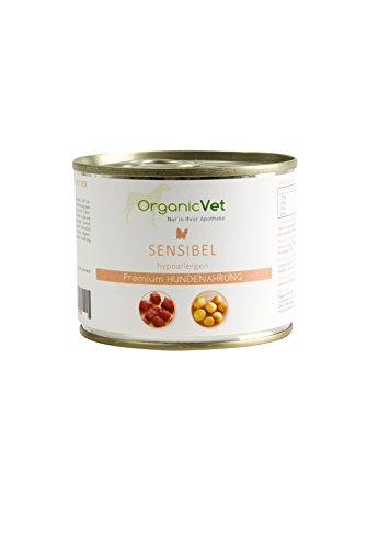 OrganicVet hond natte voering gevoelige huid, 6-pack (6 x 200 g)