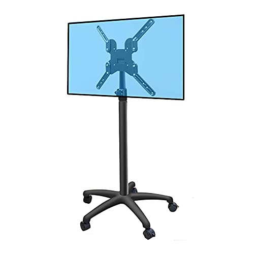 Adjustable Height TV Bracket, Cart Monitor Stand with Swival Screen 32-50 Inch TV,Universal Floor TV Holder for Conference Rooms & Office