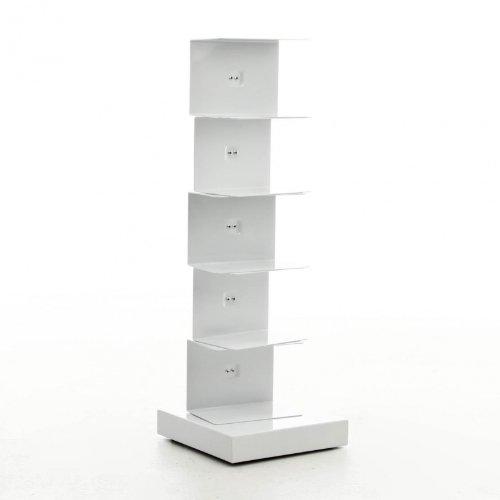 Opinion Ciatti Ptolomeo - Bibliothèque colonne 75 blanc/base white laquered/75cm/capacité environ 35 volumes