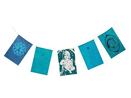 Wunschfähnchen Zusammen: Blau