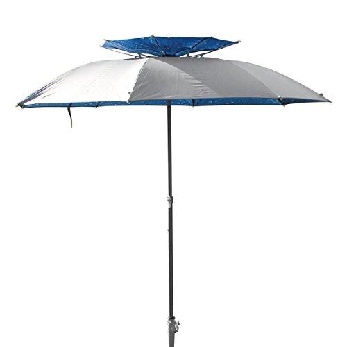 Sombrilla XXL, 190 cm de diámetro, con soporte y espiga de tornillo, de...