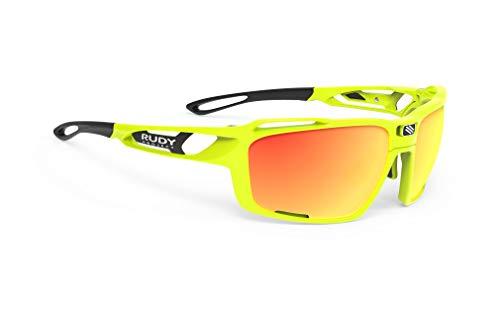 ルディプロジェクト(RUDYPROJECT) スポーツ サングラス ロード バイク 自転車 マラソン ジョギング 運動 トライアスロン テニス 野球 偏光 SINTRYX シントリクス イエロー フルオ フレーム/ポラール 3FX HDR マルチ レーザー