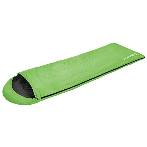 SportVida Schlafsack für Camping Sommer Mumienschlafsack Ultraleicht Outdoor Komforttemperatur -4°C bis 18°C (SV-CC0016)