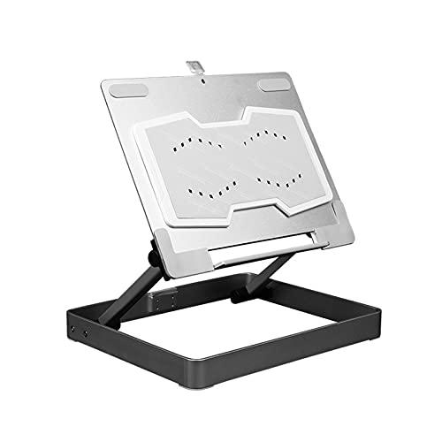 Gmjay Soporte para Computadora Portátil de Aleación de Aluminio Base de Refrigeración Portátil Soporte de Refrigeración para Computadora Antideslizante,