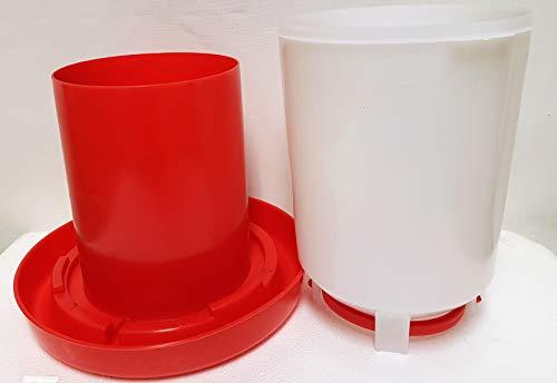 SILVER SAN Doppel Zylindertränke, 2,5 Liter, Antibakteriell, Antimikroben