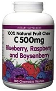 Natural Factors - Natural Fruit Chews (C) Blueberry/Raspberry/Boysenberry - - 180 wafers