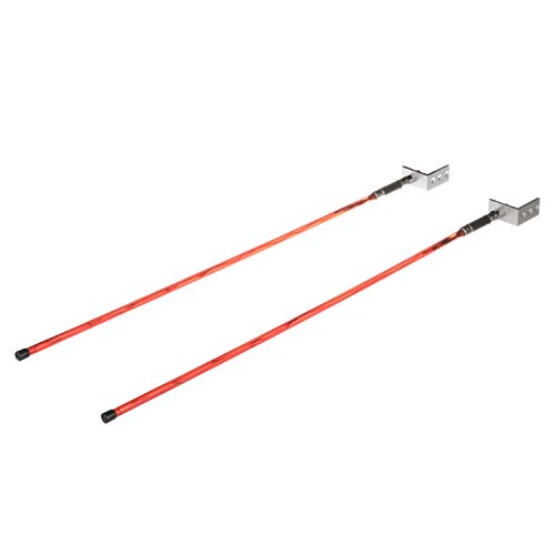 Attwood 14066-7 Trailer Guide Lights, Aid in Trailer Backing, Waterproof Red LED Lights, 51 Inches L x ¼-Inch Diameter