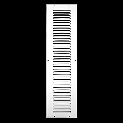 Steel Return Air Grille   HVAC Vent Cover Grill for Sidewall and Ceiling, White
