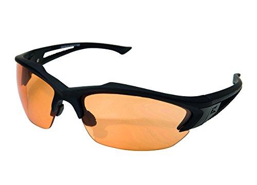 Edgeware Adultes Edge Tactical Safety Eyewear, Acid Gambit, Noir Mat, revêtement Anti-Rayures, Anti-buée Tiger S Eye Lunettes de Protection Verres, Multicolore, Taille Unique