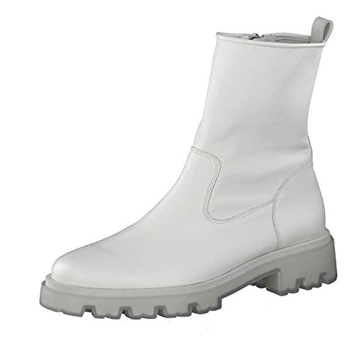 Paul Green Damen SUPER Soft Stiefelette, Damen Plateaustiefeletten,plateauabsatz,flach,Boots,Gebrochenes Weiß (MASTERCALF Ivory),5.5 UK / 38.5 EU