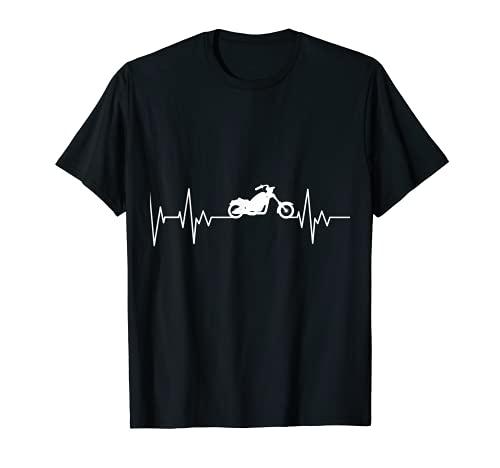 Chopper Motocicleta Latido del corazón Motocicleta Regalo Camiseta