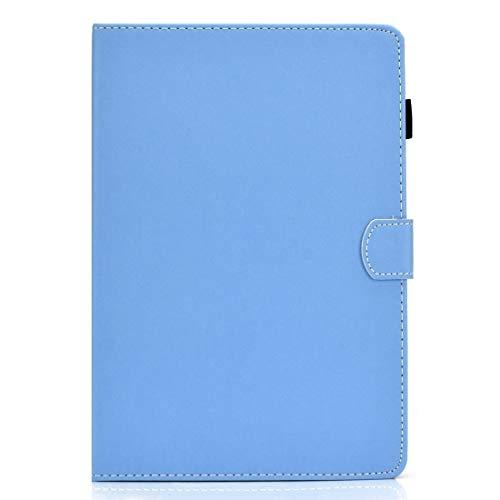 BEIJING  PROTECTIVECOVER+ / Galaxy Tab S5E T720 Color sólido Tablet PC Universal 磁 Horizontal Funda de Cuero con Ranuras y Soporte Tarjetas, Fashion Phone Funda para Protector (Color : Azul)
