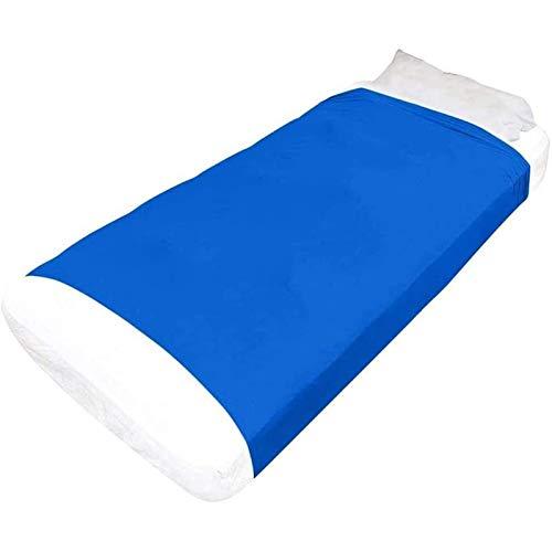 ZWDM Hojas de compresión sensoriales para niños y Adultos Cómodo Elástico Relajante Ayuda para Dormir con Autismo Trastorno de procesamiento de TDAH (Color : Blue, Size : 136x147cm)