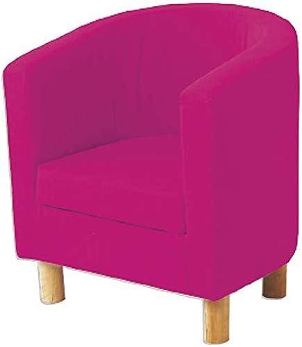 Hoppekids mit mit abnehmbarem Bezug Rosa mit Fü  aus Birke, 6 Farben, Holz, Rosa, 49 x 49 x 55cm