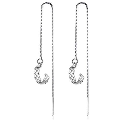 #N/A Rlmobes largo borla cadena oído línea semicircular clip pendientes mujeres joyería accesorios