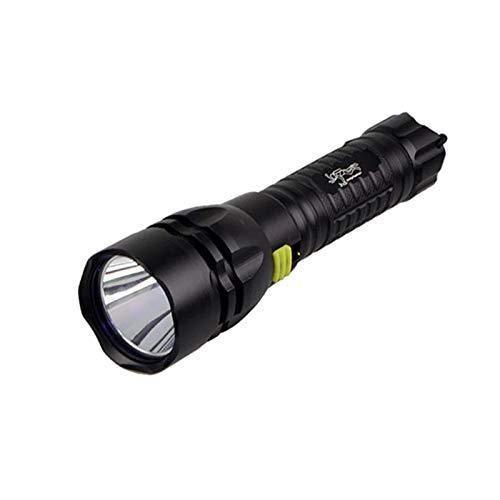 Zhicaikeji Luz de Buceo Flashlight de Buceo UV Profesional Impermeable 390~395nm antorcha UV Luz de Buceo Linterna Linterna bajo el Agua 50m para Exteriores (Color : Black, Size : 162 mm*45 mm*31mm)