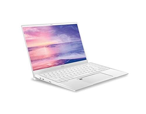 """msi Prestige 14 A10SC-224DC Computer Portatile Bianco 35,6 cm (14"""") 1920 x 1080 Pixel Intel® Core i7 di Decima Generazione 16 GB LPDDR3-SDRAM 512 GB SSD NVIDIA® GeForce® GTX 1650 Max-Q Wi-Fi 6 ("""