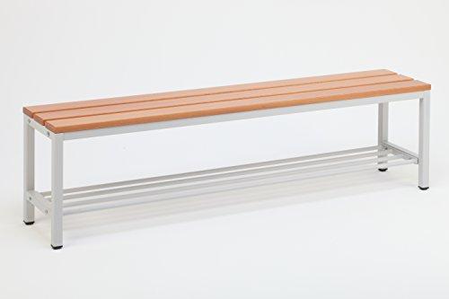 Sitzbank für Umkleideräume mit Schuhrost 150x30 cm, Marke: Szagato (Umkleidesitzbank, Umkleidebank, Garderobenbank, Bank mit Echtholz für Fitnessstudio)
