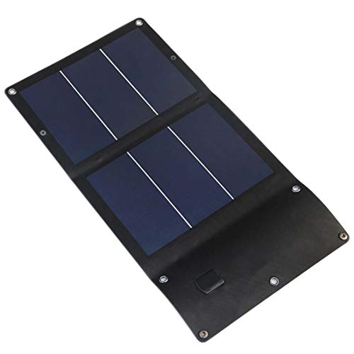 MMFXUE Pannello Solare a Film Sottile Caricabatterie a Pannello Solare Telefono Cellulare Batteria fotovoltaica Pieghevole Batteria Ricarica Tesoro 6w Impermeabile 5v Sottile