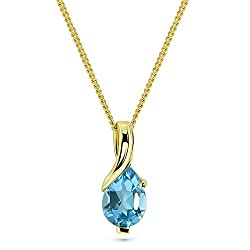 Miore necklace, chain with pendant, in 9 kt gold with created pear shape gemstone. Complete the set with the matching earrings MG9266E. Miore's fine jewellery comes in gold and silver, with or without diamonds, pearls or precious stones. Each Miore p...