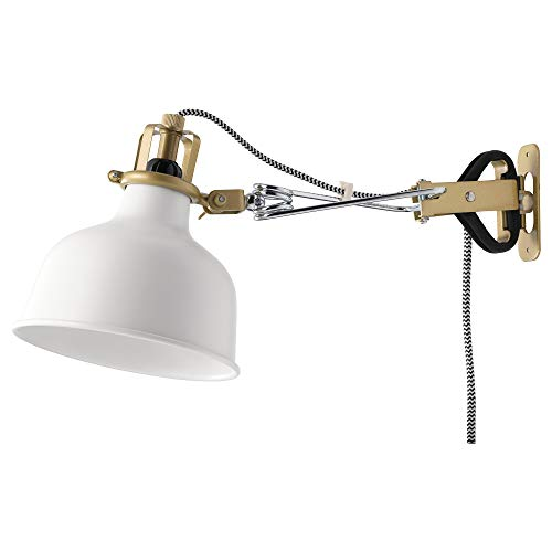Ikea 202.313.25 Ranarp - Faretto da parete/morsetto, colore: Bianco sporco