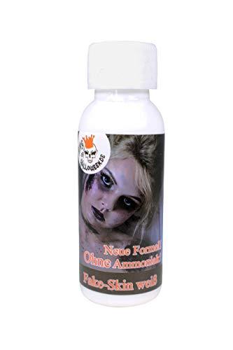 Leche de látex King of Halloween SIN AMONIACO transparente, 28,3 ml maquillaje de Halloween, zombi, heridas y cicatrices mascara zombie latex liquido maquillaje