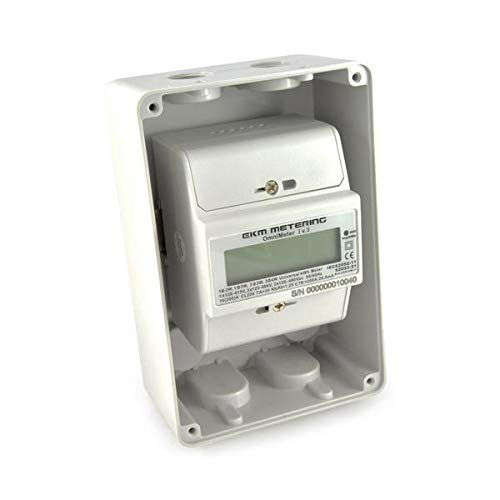 EKM Metering Electric kWh Meter and Indoor Enclosure Kit Bundle - 3-Wire, Single Phase, 120/240 Volt Pass-Through kWh Energy Meter with Professional, Custom-Designed Indoor Enclosure Cover Kit