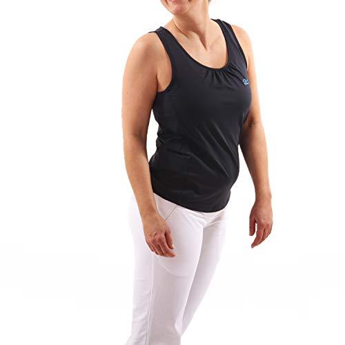 Sportkind Mädchen & Damen Tennis, Fitness, Sport Tanktop Loose Fit, atmungsaktiv, UV-Schutz UPF 50+, Navy blau, Gr. S