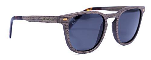 Óculos de Sol Louis Wood, Mafia Wood Exclusive Wear, Adulto Unissex, Marrom, M