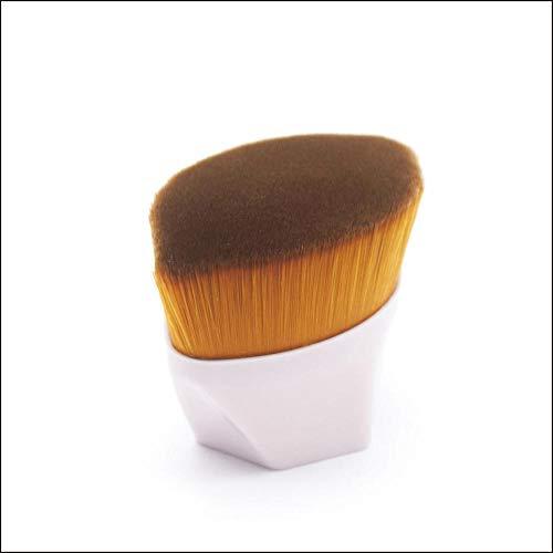 SXPSYWY 55 Maquillaje hecho Pincel Magic Foundation Cepillo Pétalos Pétalos Maquillaje Pincel Fondo Plano Fundación Líquido Cepillo Herramientas de Belleza Portátil-Bolsa Rosa + OPP