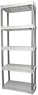 Plano 5-shelf Storage Unit, Light Taupe by Plano