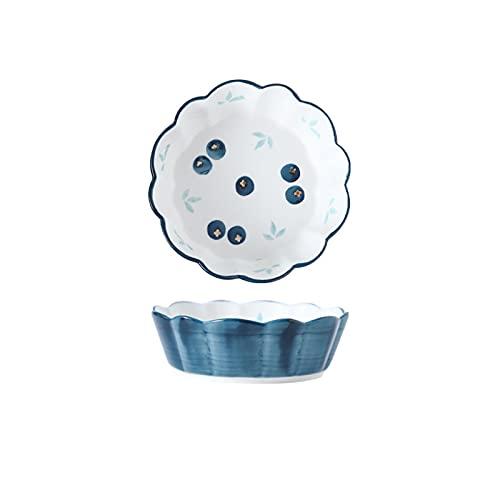 AWSAD Bol Cocina Artesanía Bajo Vidriado Cuenco Ceramica 450ml de Capacidad Usado para Fideos, Postre, Gachas de Avena, Especificación 6 Pulgadas (Color : A, Size : 6 Inches-6 Pieces)